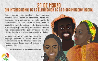 21 de marzo, Día Internacional de la Eliminación de la Discriminación Racial
