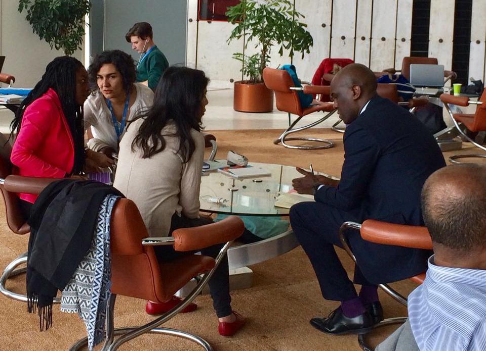 Durante la presentación ddel informe para la EPU CNOA se reune con la comisión permanente de Ruanda