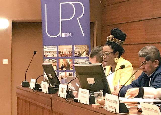 CNOA prsenta Presentación Informe Aternativo sobre la situación de derechos humanos en Colombia parala Evaluación Periódica Universal en Ginebra