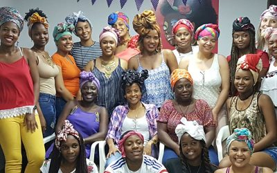 Minga Afrovallecaucana por la vida realizó taller de turbantes