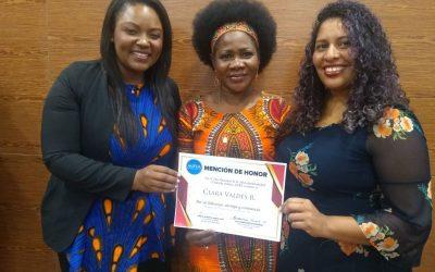 Mención de Honor a Clara Valdés, coordinadora del área de equidad de género de CNOA