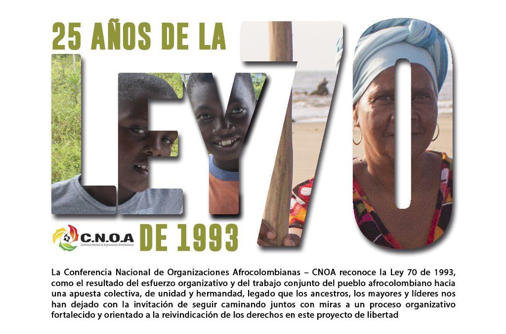 La Conferencia Nacional de Organizaciones Afrocolombianas conmemora los 25 años de la ley 70 de 1993