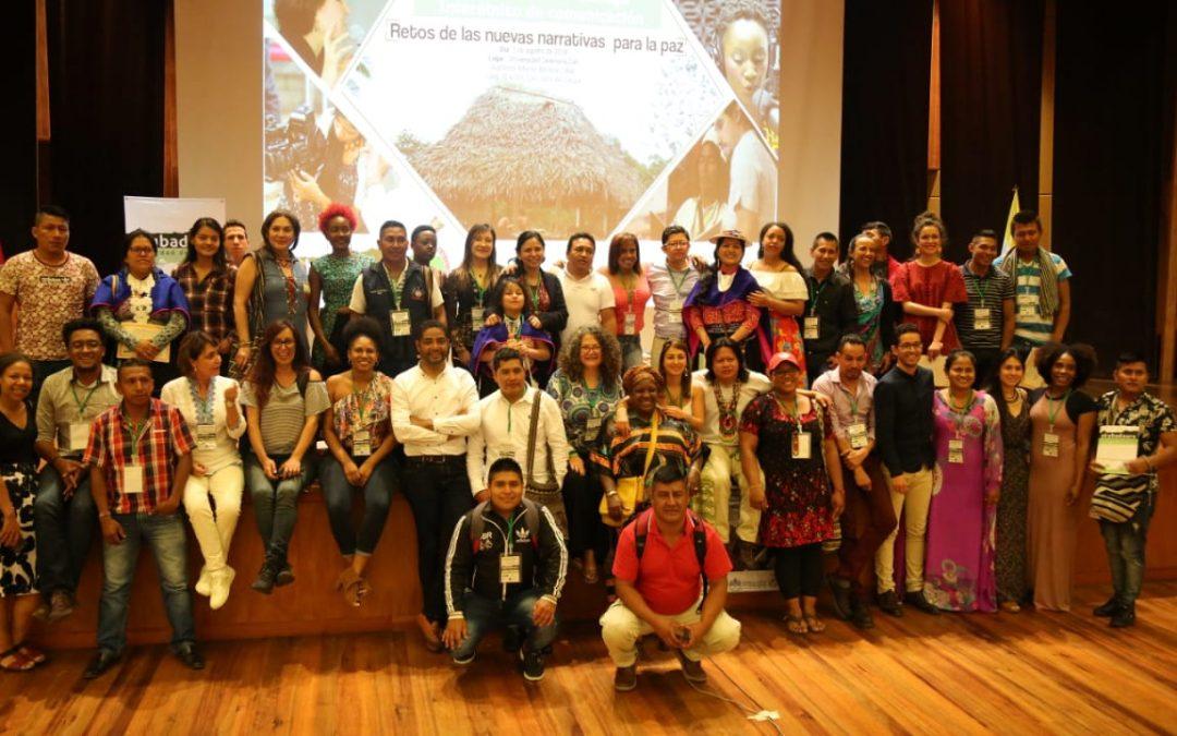 Primer Espacio de Dialogo Interétnico de Comunicación:  Retos de la Nuevas Narrativas para la Paz